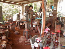 Mexicaanse woodmaker royalty-vrije stock fotografie