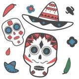 Mexicain de crâne Images libres de droits