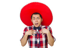 Mexicain drôle avec le sombrero Photographie stock