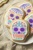 Mexicain fait maison Sugar Skull Cookies photographie stock libre de droits