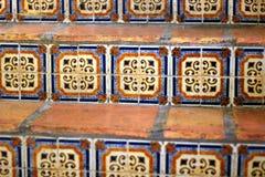 Mexicain Tilework sur un escalier Photographie stock