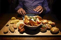 Mexical mat på en restaurang Royaltyfri Fotografi