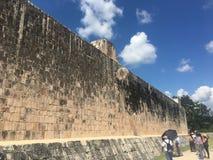 Mexicali de Iucatão México da pela do juego do itza de Chichen do jogo de bola Fotos de Stock Royalty Free