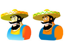 Mexican. Personage in  two variants Stock Photos