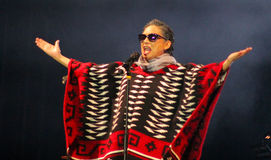Mexican actress Ofelia Medina as Chavela Vargas Royalty Free Stock Images