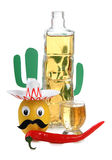 Mexican alcohol and cactus Stock Image