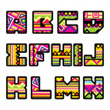 Mexican alphabet (part 1) Royalty Free Stock Image
