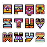 Mexican alphabet (part 2) Royalty Free Stock Images
