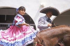 Mexican-Americans in 4 de Parade van Juli, Ojai, Californië Royalty-vrije Stock Afbeelding