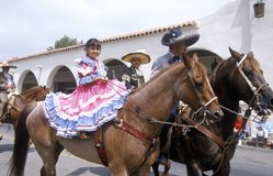 Mexican-Americans in 4 de Parade van Juli, Ojai, Californië Royalty-vrije Stock Foto