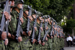Mexican Army soldiers stock image