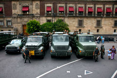 Mexican Army Trucks stock photography