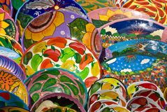 Mexican art plates  Royalty Free Stock Photos