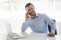 Free Mexican Attractive Businessman On His 30s Working At Modern Home Office With Computer Laptop Royalty Free Stock Photography - 129678467