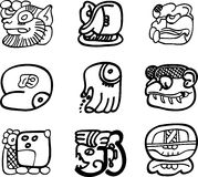 Mexican, aztec or maya motifs, glyphs Royalty Free Stock Photography