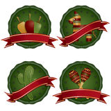 Mexican badges Royalty Free Stock Image