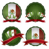 Mexican badges stock illustration
