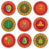 Mexican badges Royalty Free Stock Photos