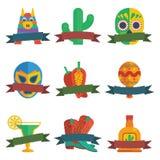 Mexican badges Stock Photos