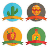 Mexican badges Stock Photo