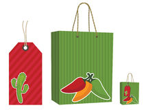 Mexican bag and tag set Stock Image