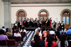 Mexican Band of Students Royalty Free Stock Photo