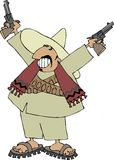 Mexican bandito. This illustration depicts a Mexican bandito Stock Photography