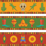 Mexican banner decorations Stock Image