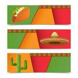 Mexican Banners Horizontal Stock Photos