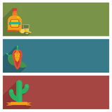 Mexican banners Royalty Free Stock Photos