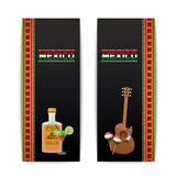 Mexican Banners Vertical Royalty Free Stock Image