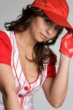 Mexican Baseball Girl Stock Photo