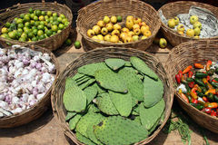 Mexican bazaar. Scene from a Mexican bazaar. Vegetables in a Market. Mexico stock photography