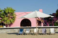 Mexican Beach Hotel Royalty Free Stock Photography