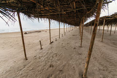 Mexican Beach Palapa Stock Photos