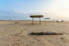 Mexican Beach Palapa Stock Photo