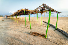 Mexican Beach Palapa Stock Photography