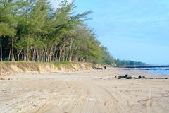 Mexican Beach Scene. A generic tropical beach scene from Tuxpan, Veracruz state Mexico royalty free stock photo