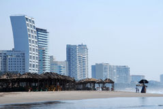 Mexican beach skyline Stock Images
