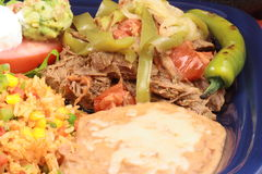 Mexican beef plate Royalty Free Stock Image
