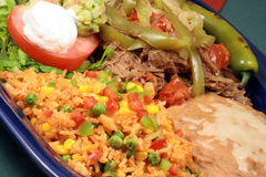 Mexican beef plate Royalty Free Stock Photography