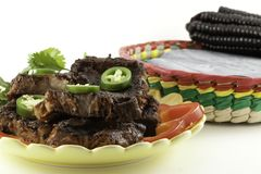 Mexican Beef Short Ribs barbecue Royalty Free Stock Photos