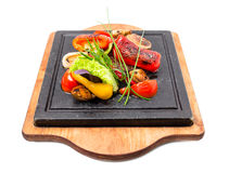Mexican beef steak with grilled vegetables. Stock Image