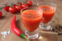 Mexican - beverage from tomatoes, chili and liquor Royalty Free Stock Photo