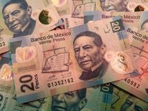Mexican bills Royalty Free Stock Photo