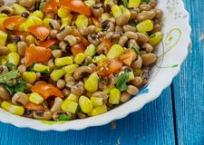 Mexican  Black-Eyed Pea Dip. Black-Eyed Pea Dip , Mexican food close up Stock Image