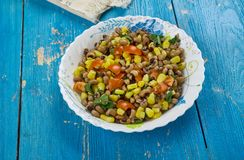 Mexican  Black-Eyed Pea Dip. Black-Eyed Pea Dip , Mexican food close up Royalty Free Stock Photo