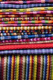 Mexican blanket. Material wool texture Stock Photo