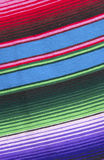 Mexican blanket. Close up of colorful Mexican woven blanket Royalty Free Stock Images