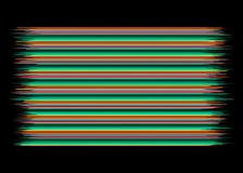 Mexican Blanket Stripes Seamless Vector Pattern. Typical colorful woven fabric from central america royalty free stock photos